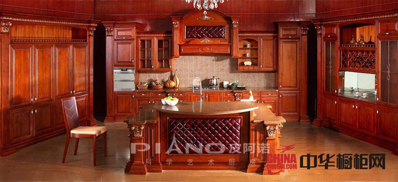 古典风格皮阿诺橱柜图片-实木橱柜图片-橱柜装修效果图