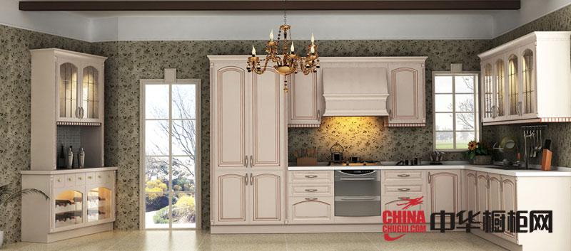 欧式风格博洛尼橱柜图片 2012年实木整体橱柜效果图 小厨房装修效果图欣赏