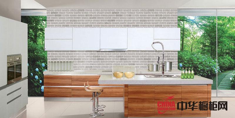 田园风格金牌橱柜图片 整体橱柜效果图 整体厨房效果图欣赏