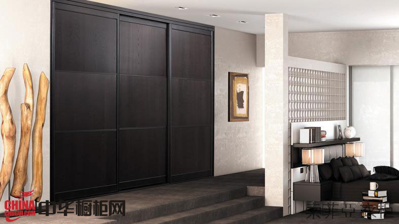 索菲亚衣柜图片-拉斐特之乌木棕 中式衣柜效果图 整体衣柜效果图欣赏