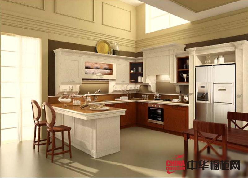 白色烤漆橱柜图片 欧式田园风格韩丽橱柜图片 整体橱柜效果图欣赏