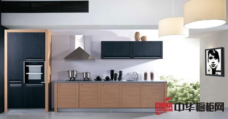 田园风格金牌厨柜图片-2012年最新款整体橱柜效果图-一字型小厨房装修效果图欣赏