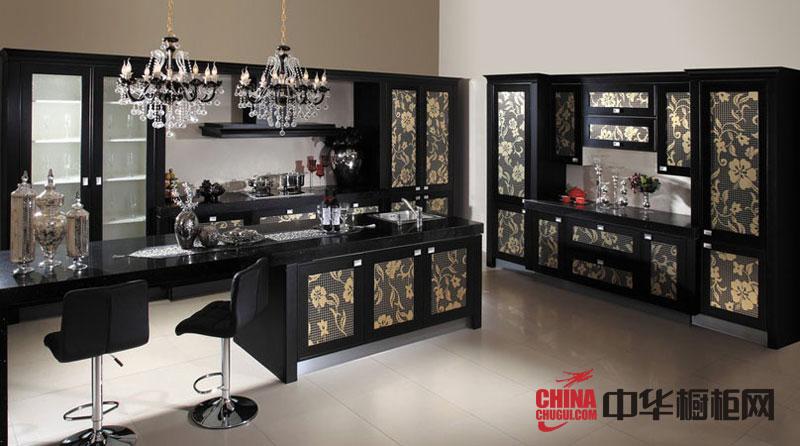 欧式风格樱花橱柜图片|欧式橱柜图片|实木橱柜图片|厨房装修效果图大全2012图片