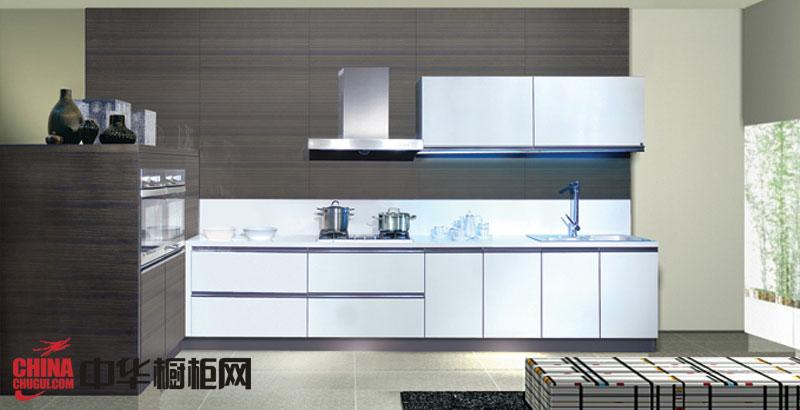 简约风格整体橱柜效果图-金牌厨柜图片灰白色烤漆橱柜图片-2012年最新款整体橱柜图片展示
