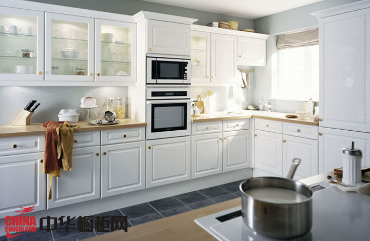 欧式橱柜图片|实木橱柜图片-白色烤漆月兔橱柜图片-欧式整体橱柜效果