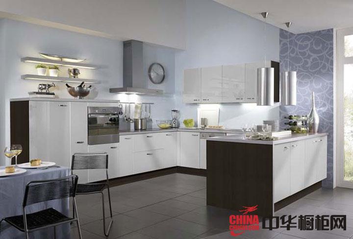 白色烤漆橱柜图片简约风格整体橱柜效果图-欧派橱柜效果图-2012年欧式