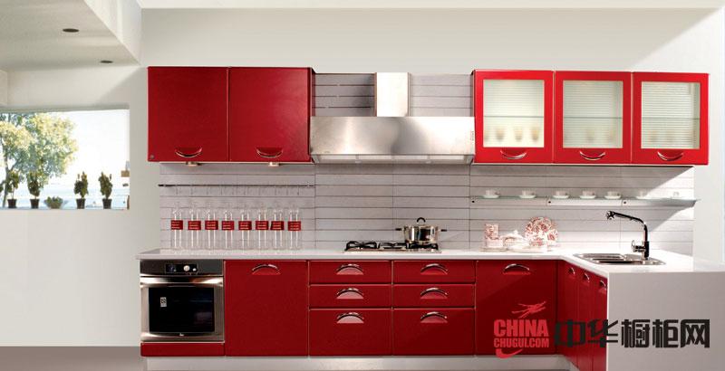 红色烤漆橱柜图片-简约风格整体橱柜图片-2012年橱柜装修效果欣赏