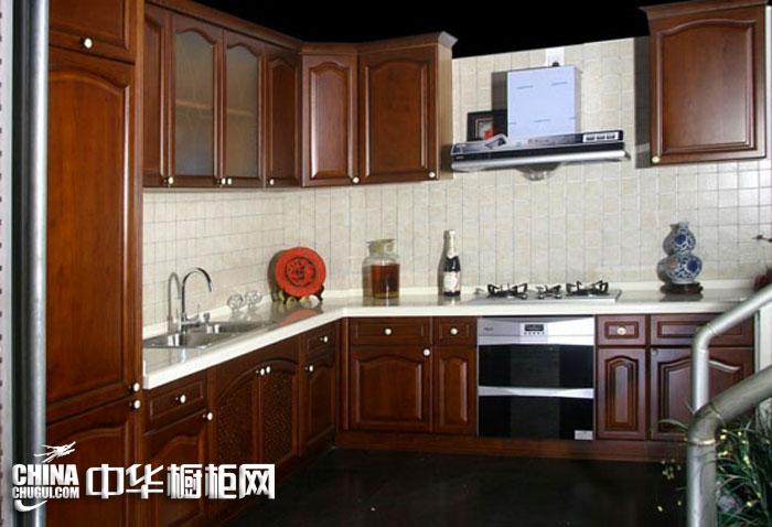 美式风格整体橱柜图片-实木橱柜图片大全-厨房装修效果图大全2012图片