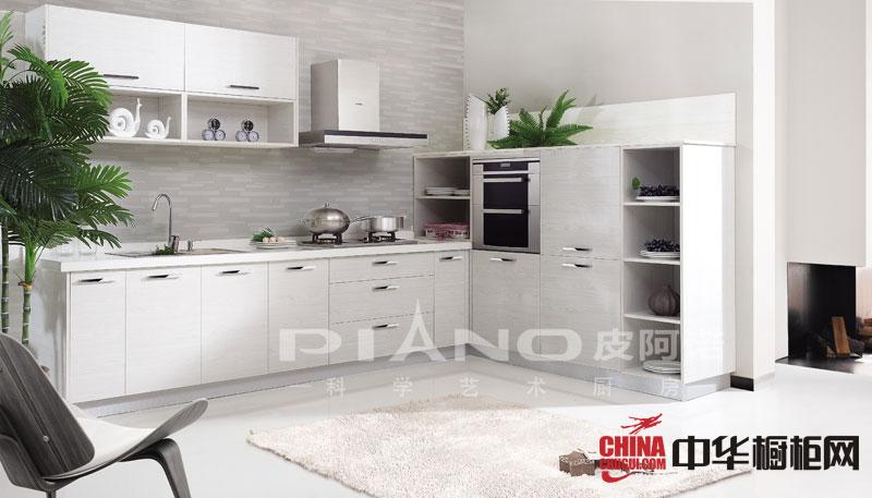白色烤漆整体橱柜效果图-皮阿诺整体橱柜图片-2012年最新款厨房橱柜