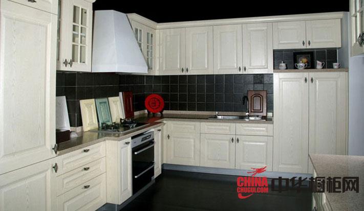 欧式风格韩丽橱柜图片 白色橡木实木橱柜效果图展示奢华大气的古典