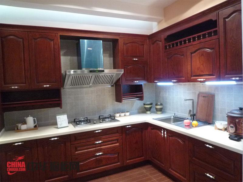 古典风格湘邦橱柜图片 实木橱柜效果图 整体橱柜装修效果图欣赏