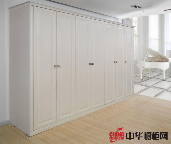 白色烤漆整体衣柜设计效果图 欧式风格柯拉尼衣柜图片