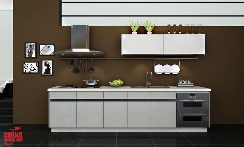 现代风格箭牌橱柜效果图-箭云·PAD 亮面整体烤漆橱柜图片欣赏