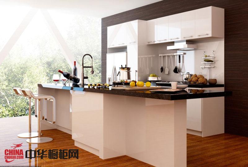 简约风格整体橱柜图片 金属烤漆橱柜效果图