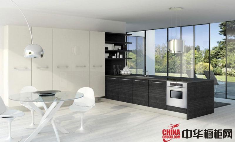 现代简约风格橱柜图片 时尚厨房橱柜效果图