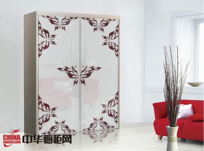 简约风格最新款伊仕利衣柜设计图 白色烤漆大衣柜效果图欣赏