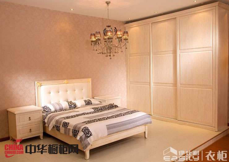白色实木衣柜图片 欧式风格整体衣柜效果图