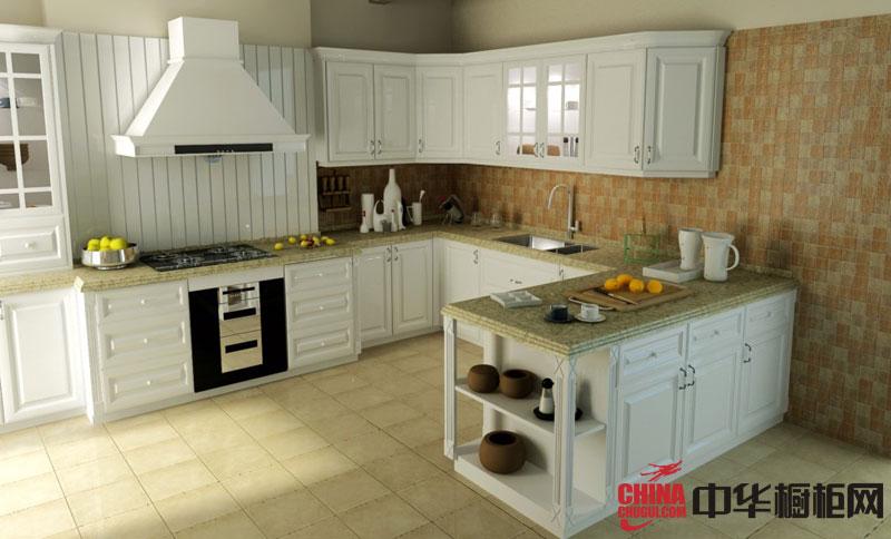欧式风格整体橱柜效果图 白色实木整体橱柜图片 2012最新款整体橱柜图片