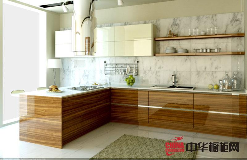 田园风格橱柜效果图 亮面烤漆橱柜效果图 厨房整体橱柜效果图