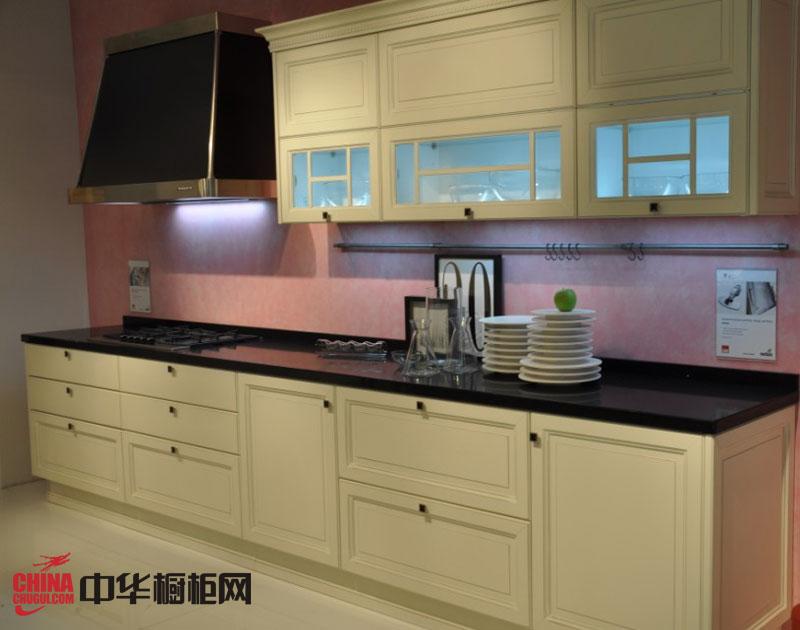简欧风格整体橱柜图片 实木橱柜图片 一字型小厨房装修效果图