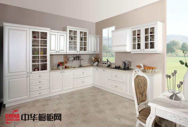 欧式橱柜图片枫丹丽舍 白色实木橱柜效果图