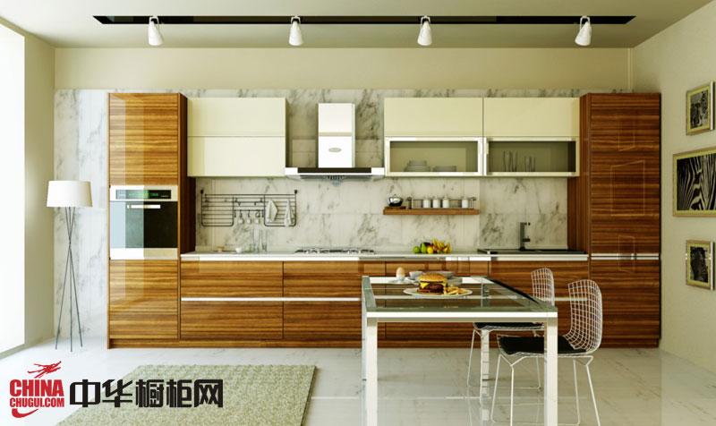 简约风格整体橱柜效果图 一字型整体橱柜图片 小厨房装修效果图