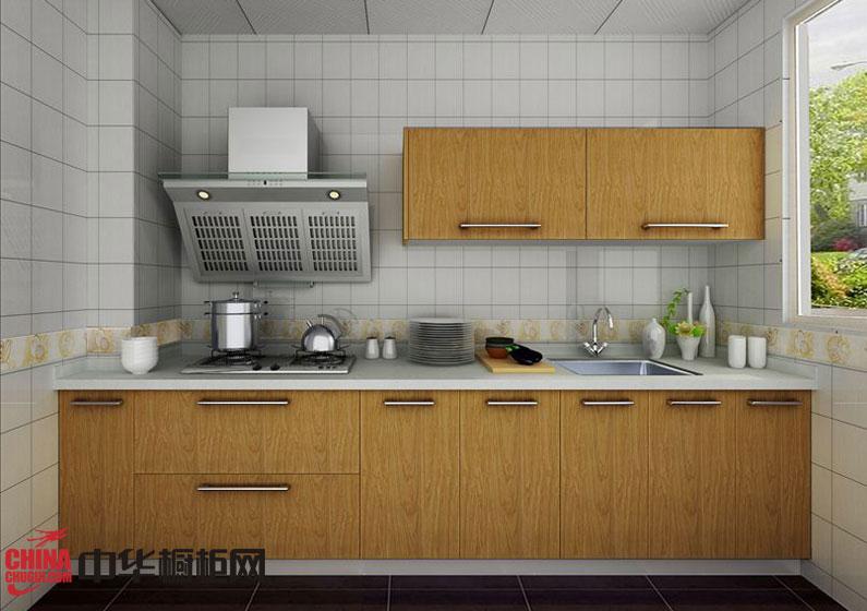 田园风格整体橱柜设计效果图 现代时尚的小厨房装修效果图欣赏