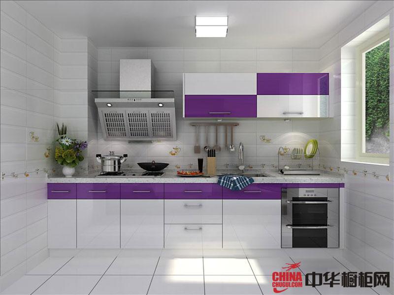 现代风格整体橱柜效果图 白色烤漆橱柜图片 厨房装修效果图大全2012图