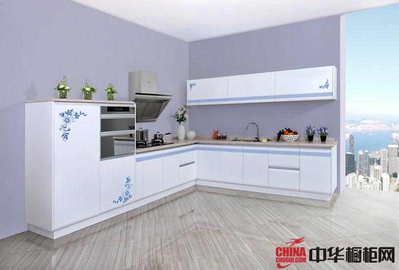 简约风格橱柜设计图-青花神韵 2012最新款整体橱柜图片 白色烤漆橱柜图片