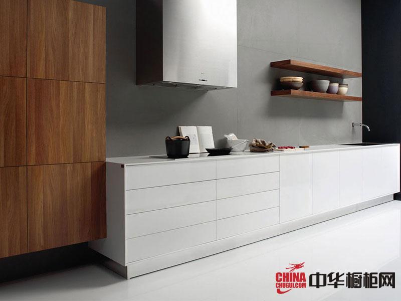 不锈钢整体橱柜效果图 简约风格白色烤漆橱柜图片