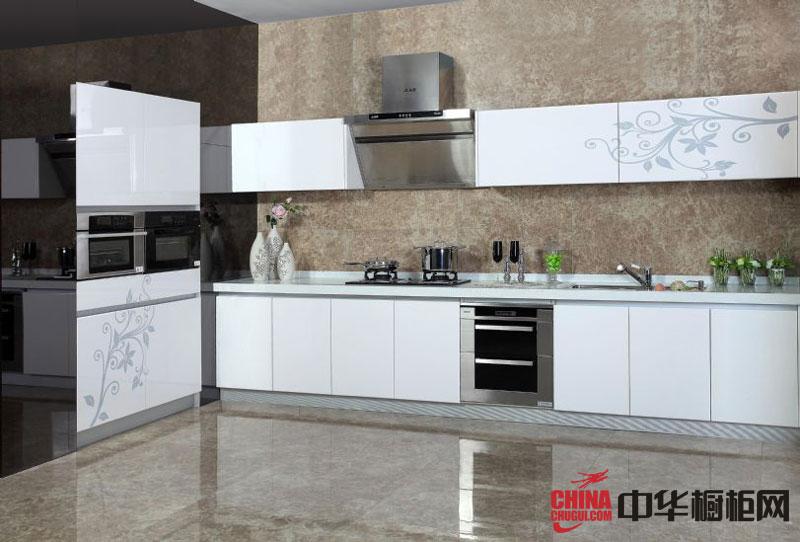 白色烤漆整体橱柜效果图-诗露花雨 厨房装修效果图大全2012图片