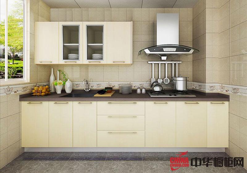 一字型橱柜图片|小厨房装修效果图-麦田印象 田园风格橱柜效果图欣赏
