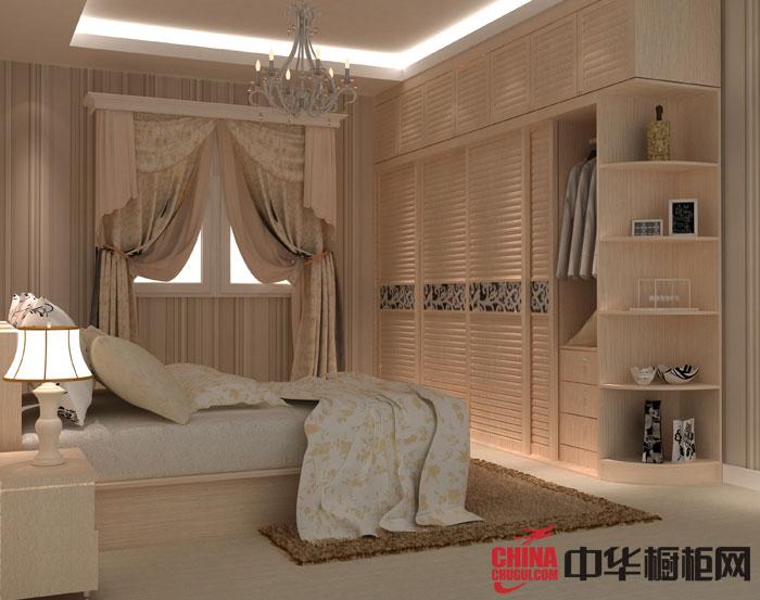 北欧风格整体衣柜设计图片 原木色衣柜效果图欣赏