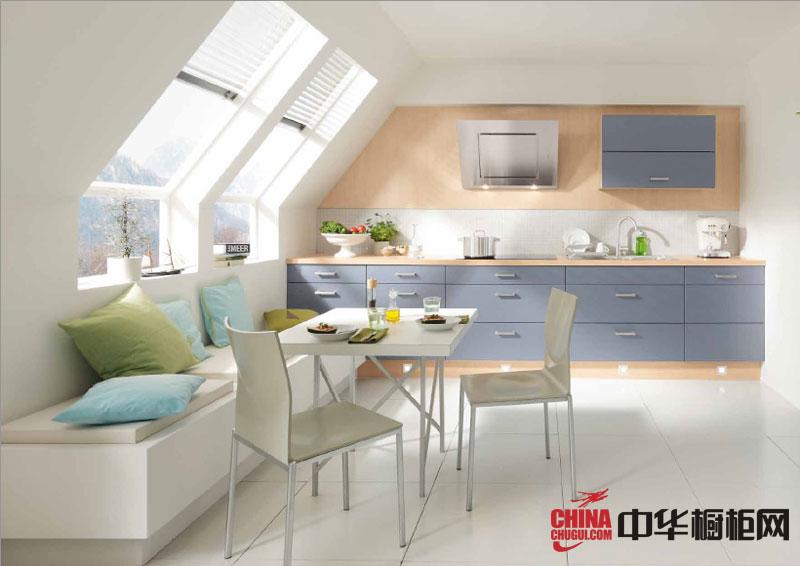 田园风格橱柜效果图 开放式厨房装修效果图