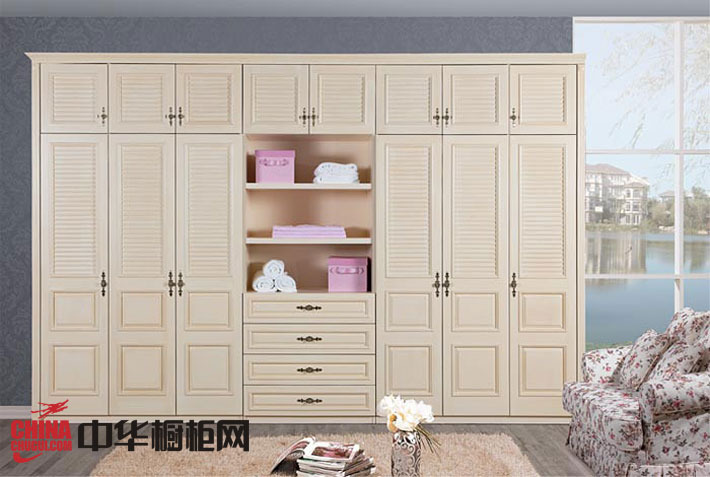 冠特实木衣柜设计图 复古风格衣柜效果图欣赏