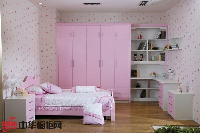 粉红色烤漆衣柜设计图 公主风格衣柜效果图 烤漆大衣柜效果图欣赏