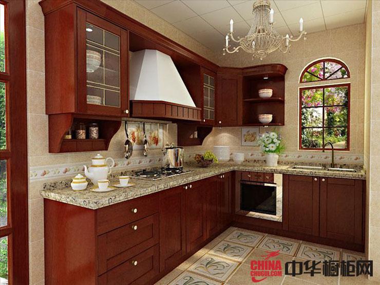 古典风格橱柜图片 实木橱柜效果图-普吉岛 厨房装修效果图大全2012图片