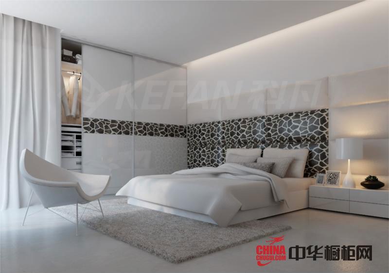白色烤漆大衣柜效果图 简约风格整体橱柜设计图欣赏