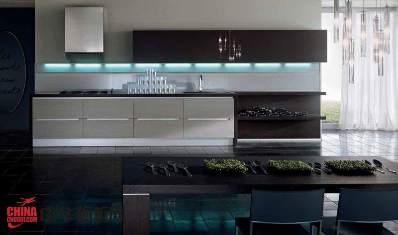 现代时尚风格整体橱柜-沃尔泰拉-厨房整体橱柜效果图