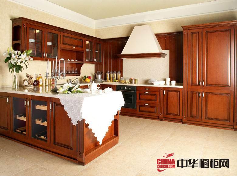 古典风格整体橱柜效果图 实木橱柜图片 厨房装修效果图大全2012图片