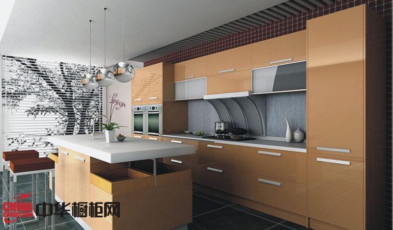 香槟色橱柜效果图-印象 简约风格整体橱柜图片 厨房装修效果图大全2012图片