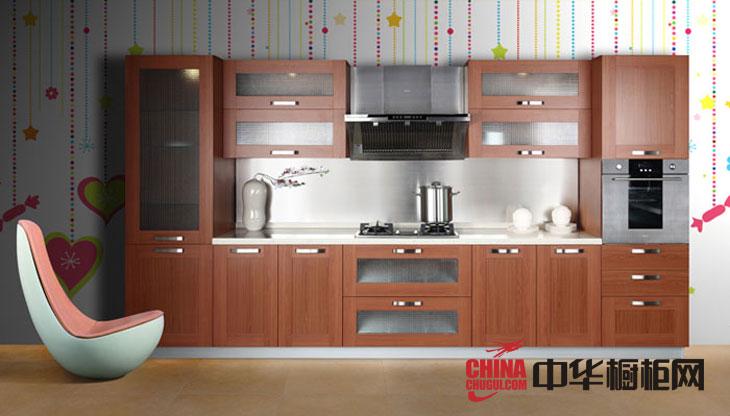 一字型整体橱柜效果图 田园风格橱柜设计图片 小厨房装修效果图欣赏
