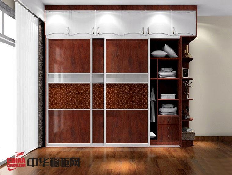新古典风格整体衣柜效果图 褐色衣柜设计图欣赏