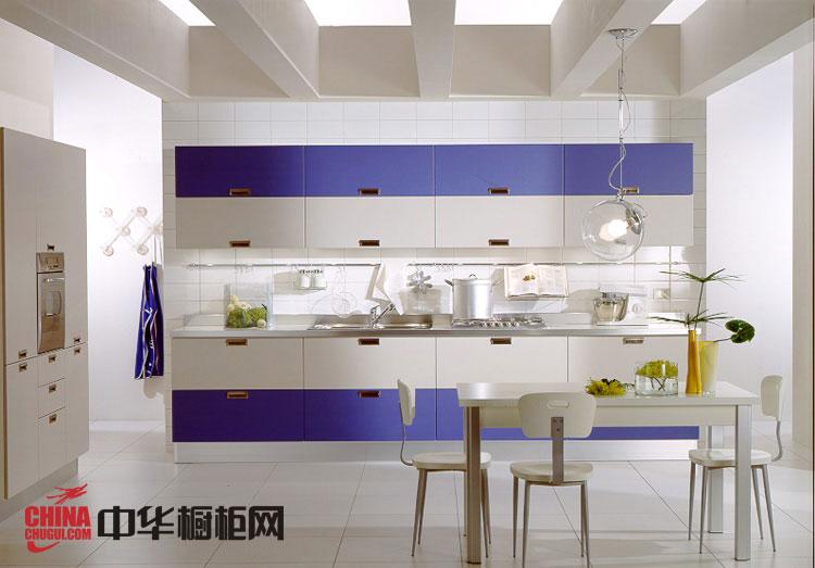 时尚简约的橱柜效果图 开放式厨房装修效果图