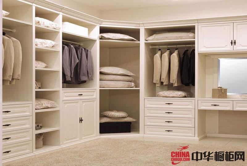 白色烤漆大衣柜效果图 欧式实木衣柜设计图欣赏