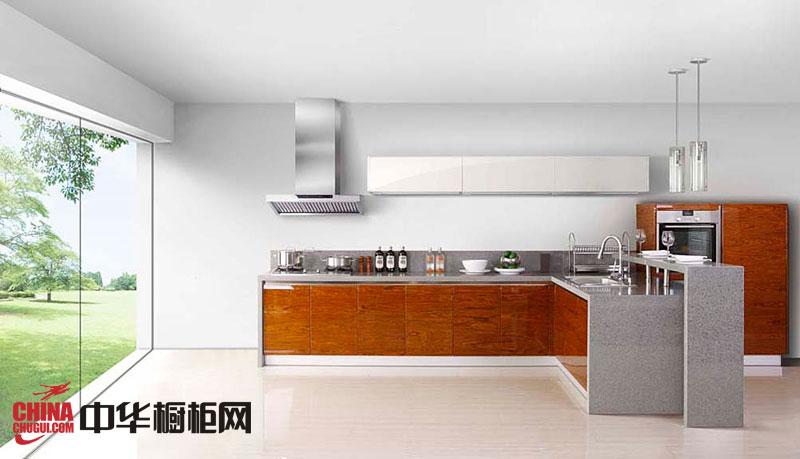 田园风格整体橱柜效果图 l型厨房整体橱柜效果图 开放