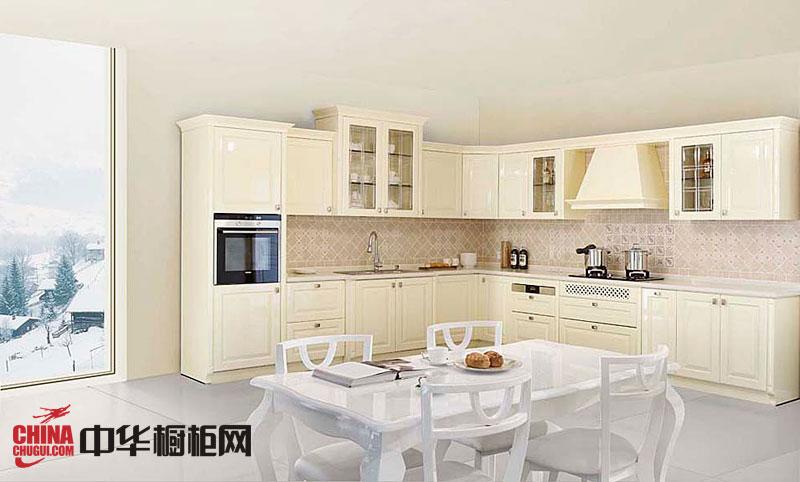 米白色烤漆橱柜图片 欧式实木橱柜效果图 2012年橱柜图片欣赏