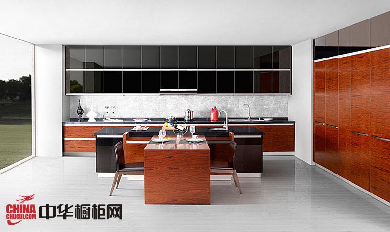 黑色烤漆橱柜设计图片 厨房整体橱柜效果图