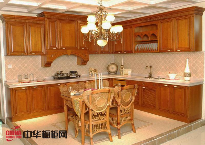 古典风格整体橱柜设计图 欧式实木橱柜效果图 厨房整体橱柜效果图欣赏
