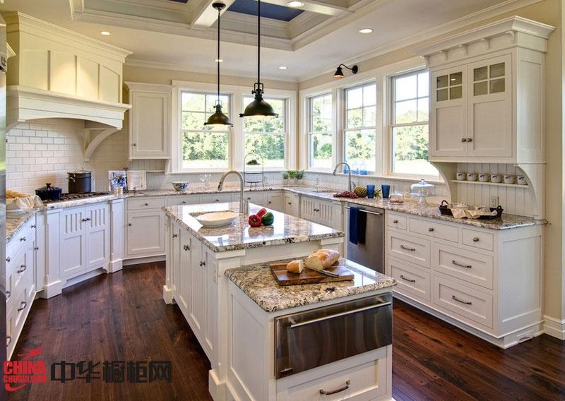 欧式实木橱柜效果图片 田园风格厨房橱柜图片